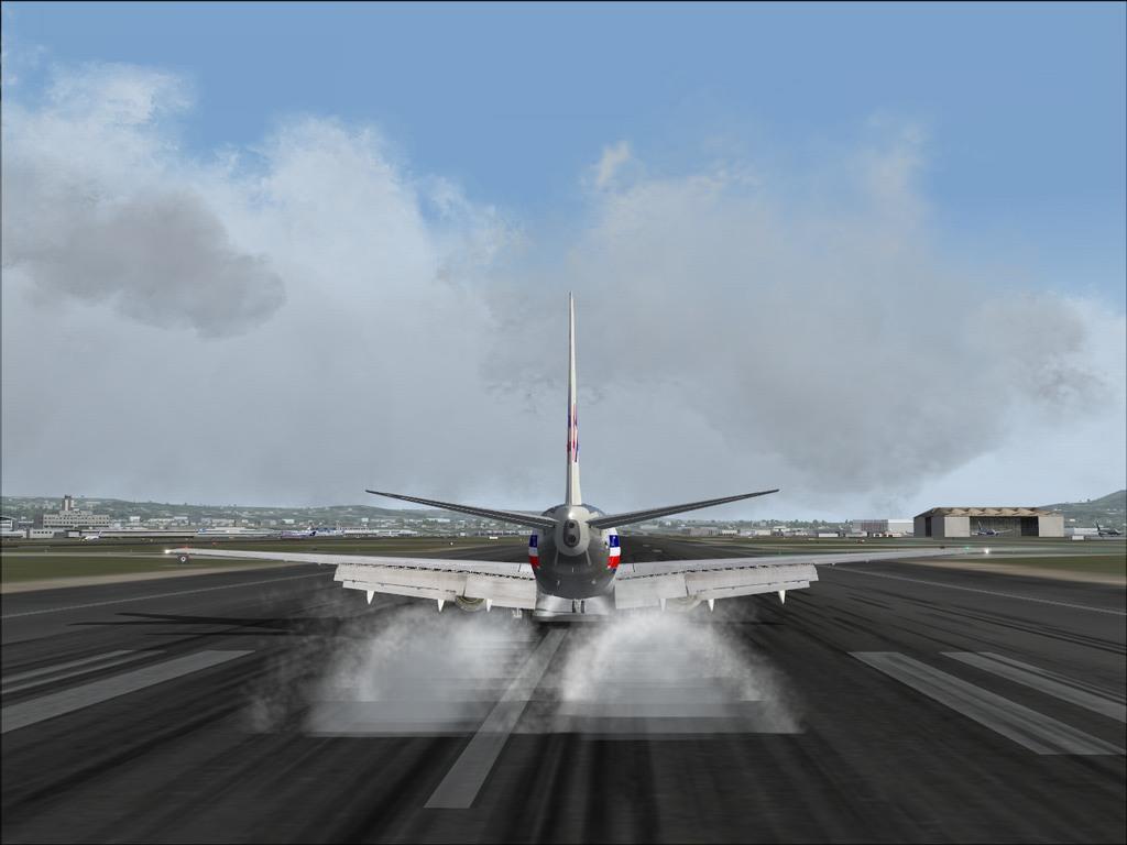 [FS9] Pouso em KSFO com AA 737-700 PMDG Americ13
