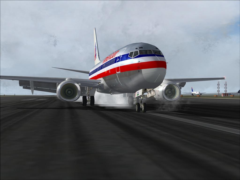 [FS9] Pouso em KSFO com AA 737-700 PMDG Americ14