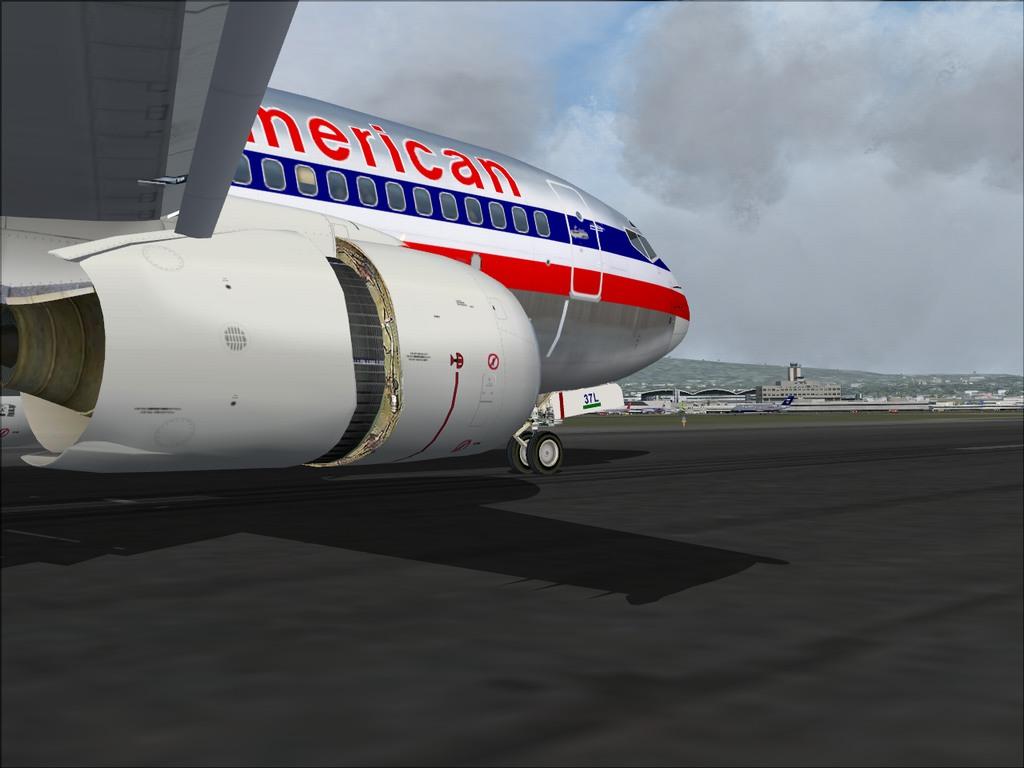[FS9] Pouso em KSFO com AA 737-700 PMDG Americ15