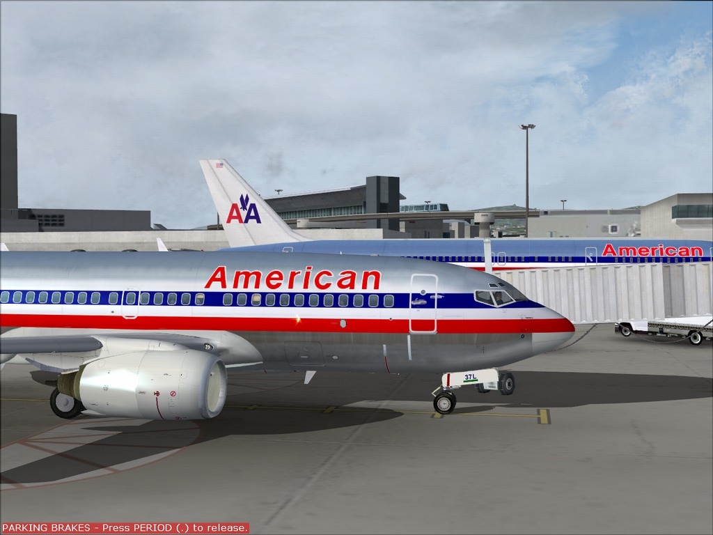 [FS9] Pouso em KSFO com AA 737-700 PMDG Americ16