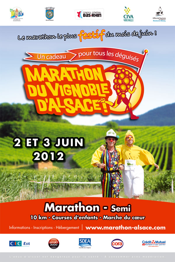 2 et 3 juin 2012 ,8ème édition du Marathon du Vignoble d'Alsace Affich12