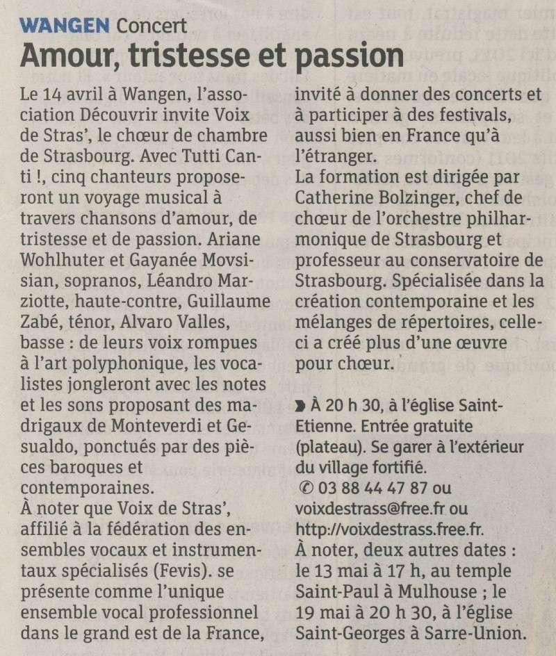 Concert par les Voix de Stras' samedi 14 avril 2012 à 20h30 en l'église Saint-Etienne de WANGEN Image103