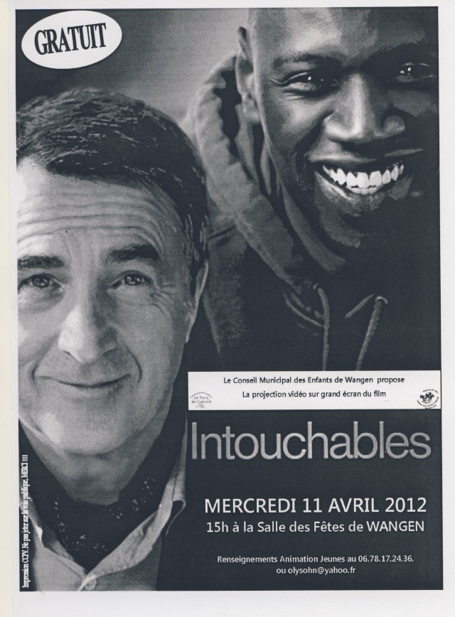 """Projection vidéo du film  """"Intouchables"""" mercredi11 avril 2012 à 15h à la salle des fêtes de Wangen Image104"""