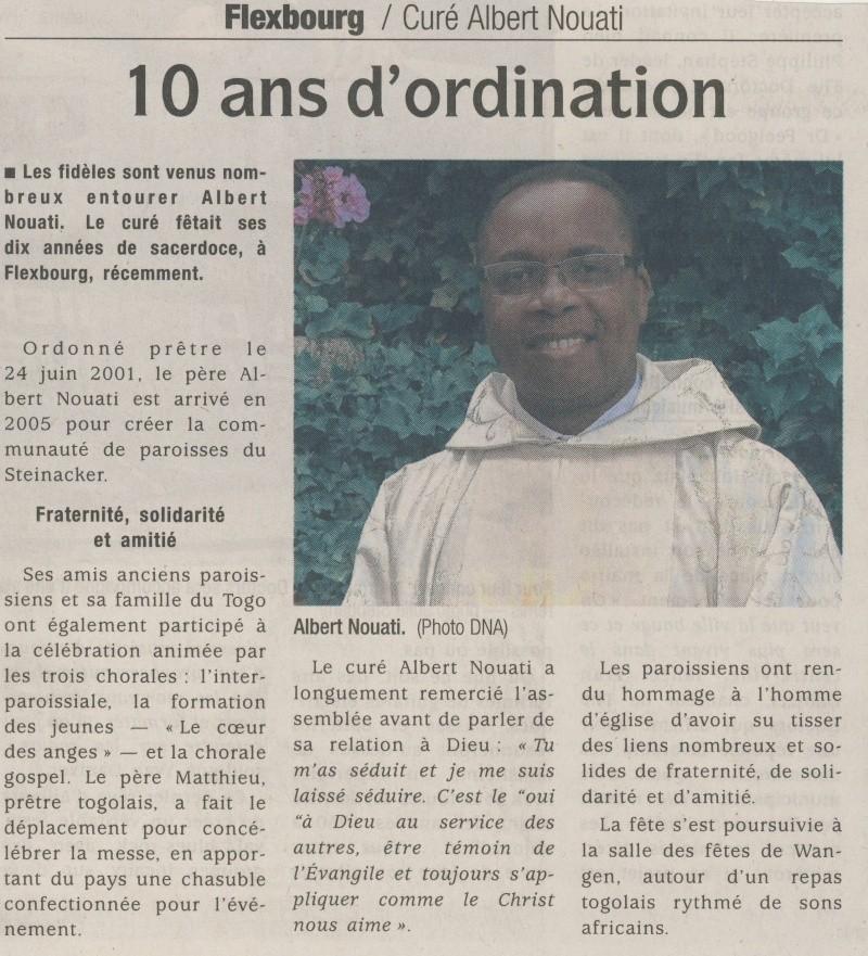 Albert Nouati curé de la communauté de paroisses de Westhoffen - Traenheim - Dangolsheim - Wangen -Flexbourg- Balbronn Image122
