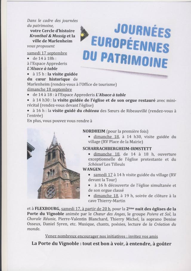 Porte du Vignoble :Journées Européennes du Patrimoine 17 et 18 septembre 2011 Image144