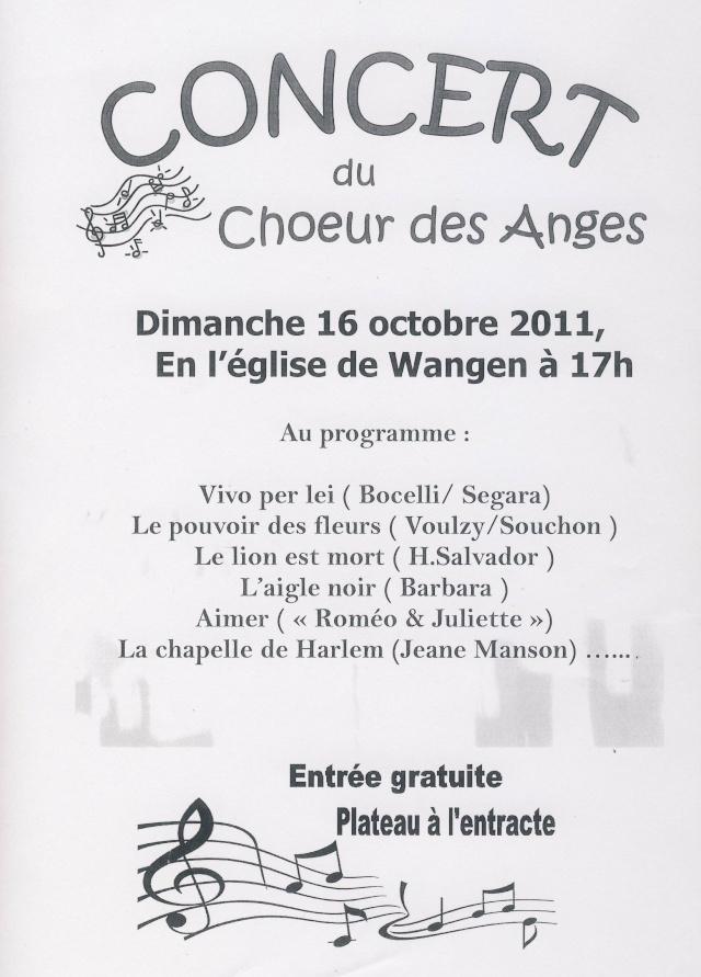 Concert du Choeur des Anges dimanche 16 octobre 2011 à 17h en l'Eglise de Wangen Image160