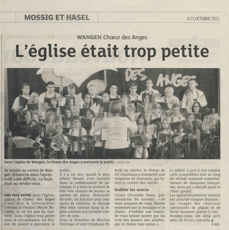 Concert du Choeur des Anges dimanche 16 octobre 2011 à 17h en l'Eglise de Wangen Image165