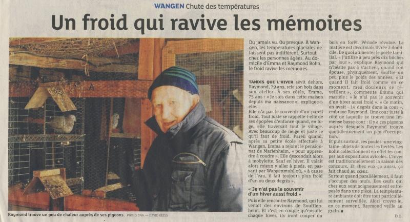 """"""" Un froid qui ravive les mémoires """"  par David Geiss dans les Dernières Nouvelles d'Alsace Image192"""