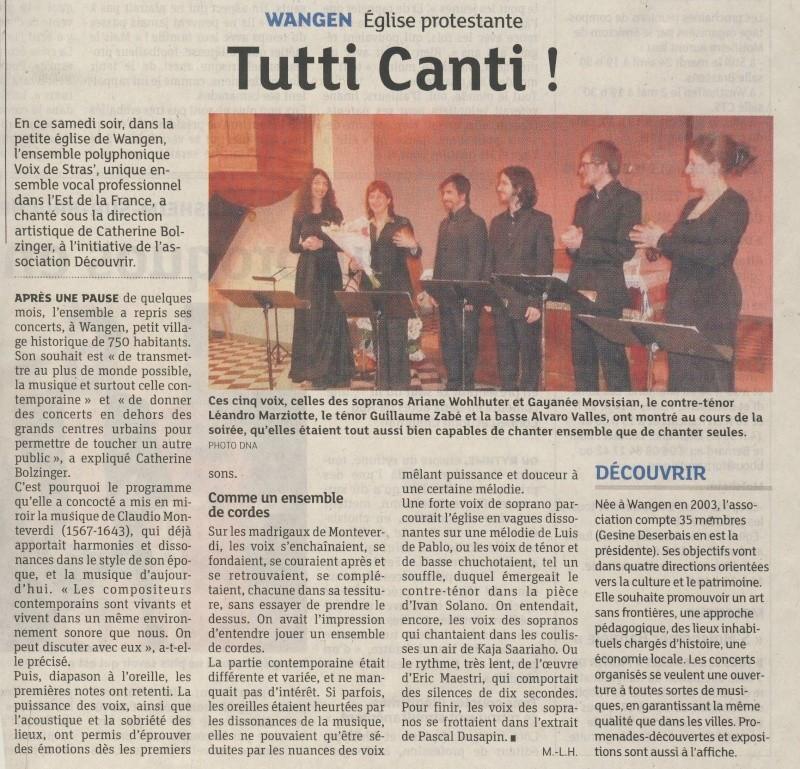 Concert par les Voix de Stras' samedi 14 avril 2012 à 20h30 en l'église Saint-Etienne de WANGEN Image203