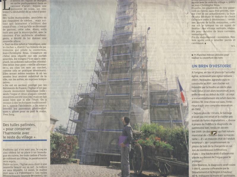 Le chantier de restauration de l'église simultanée de Wangen ... Image220