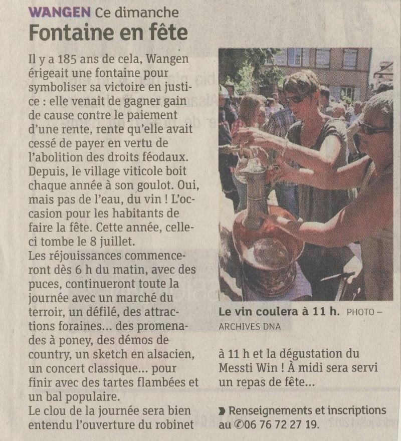 Wangen : Fête de la Fontaine le 8 juillet 2012 Image242