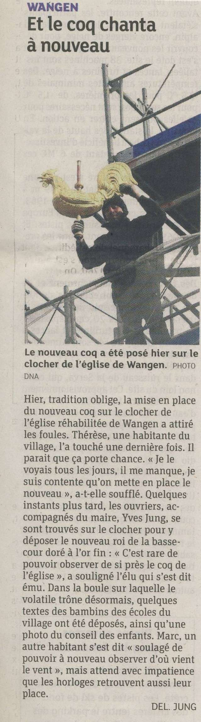 Wangen : un nouveau coq pour veiller sur le village  - Page 2 Image259