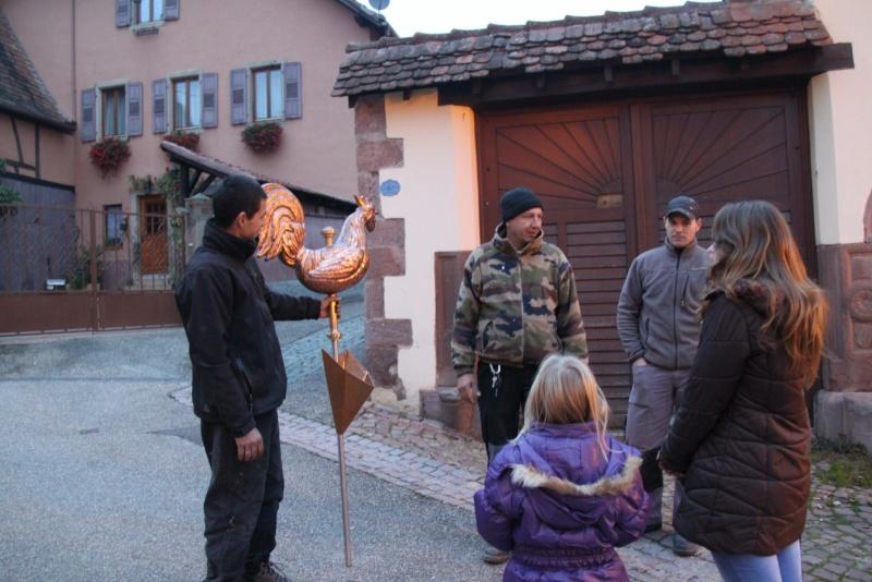 Wangen : un nouveau coq pour veiller sur le village  Img_0161