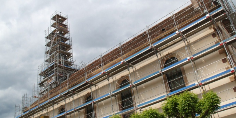Le chantier de restauration de l'église simultanée de Wangen ... Img_0322
