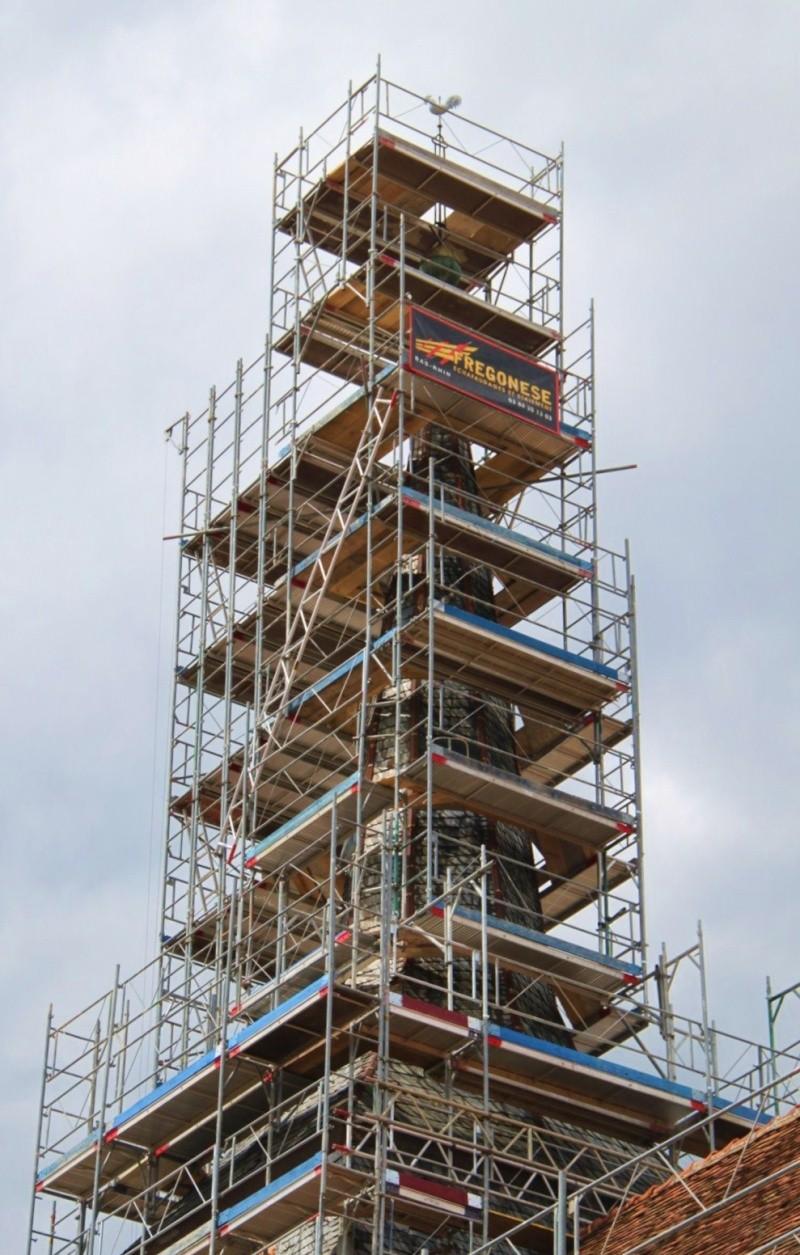 Le chantier de restauration de l'église simultanée de Wangen ... Img_0323