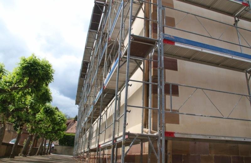 Le chantier de restauration de l'église simultanée de Wangen ... Img_0324