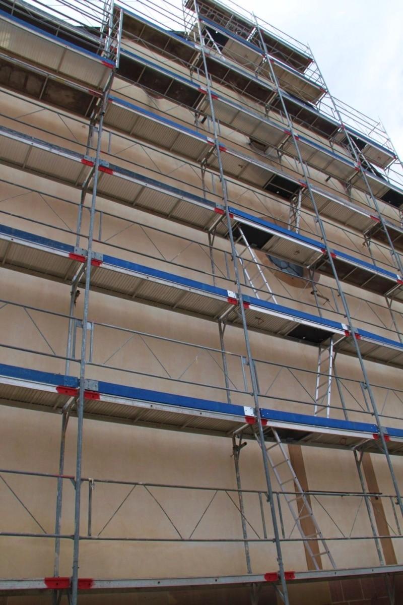Le chantier de restauration de l'église simultanée de Wangen ... Img_0325