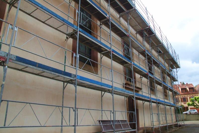 Le chantier de restauration de l'église simultanée de Wangen ... Img_0326