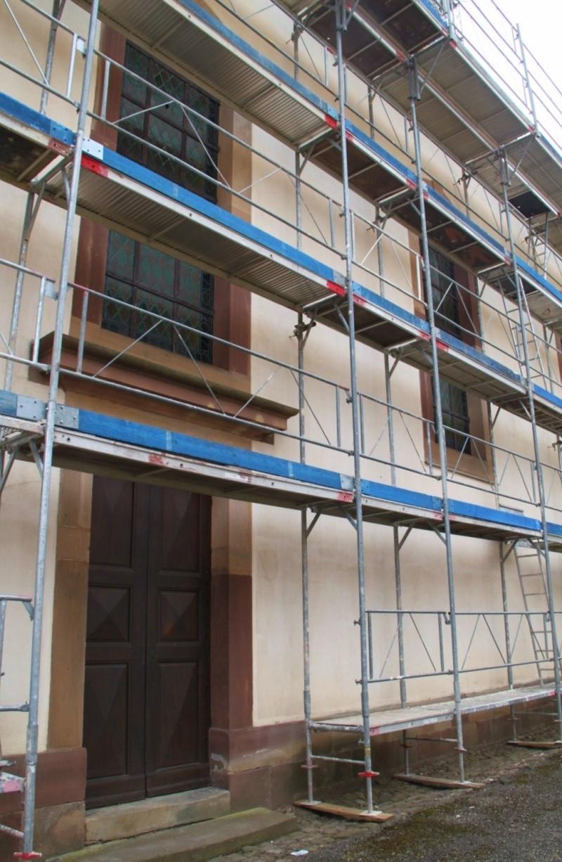 Le chantier de restauration de l'église simultanée de Wangen ... Img_0327