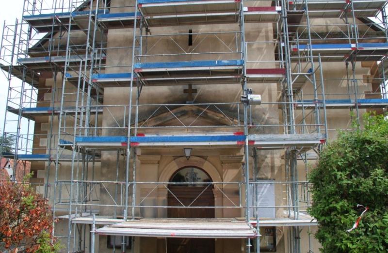 Le chantier de restauration de l'église simultanée de Wangen ... Img_0411