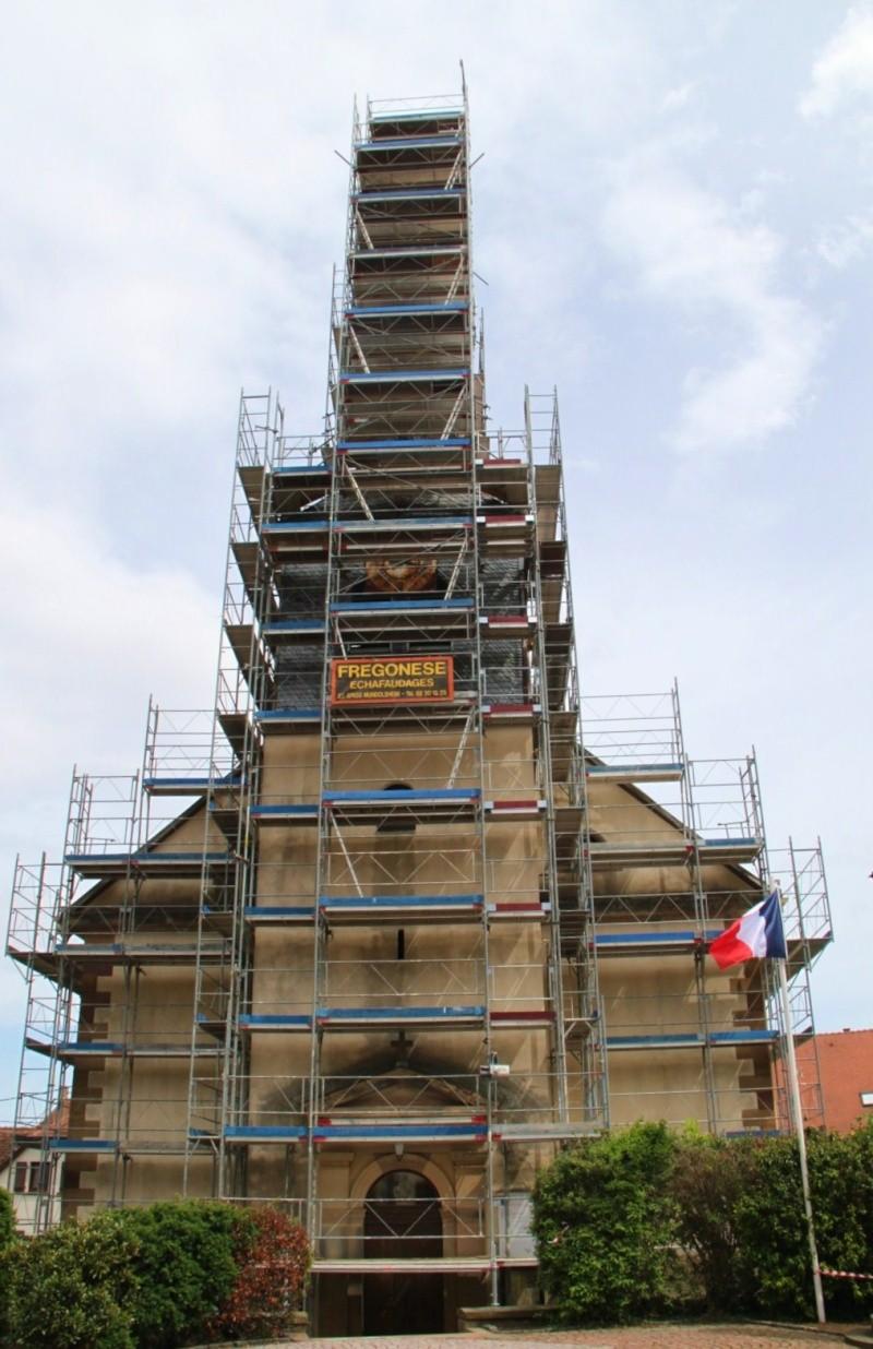 Le chantier de restauration de l'église simultanée de Wangen ... Img_0412