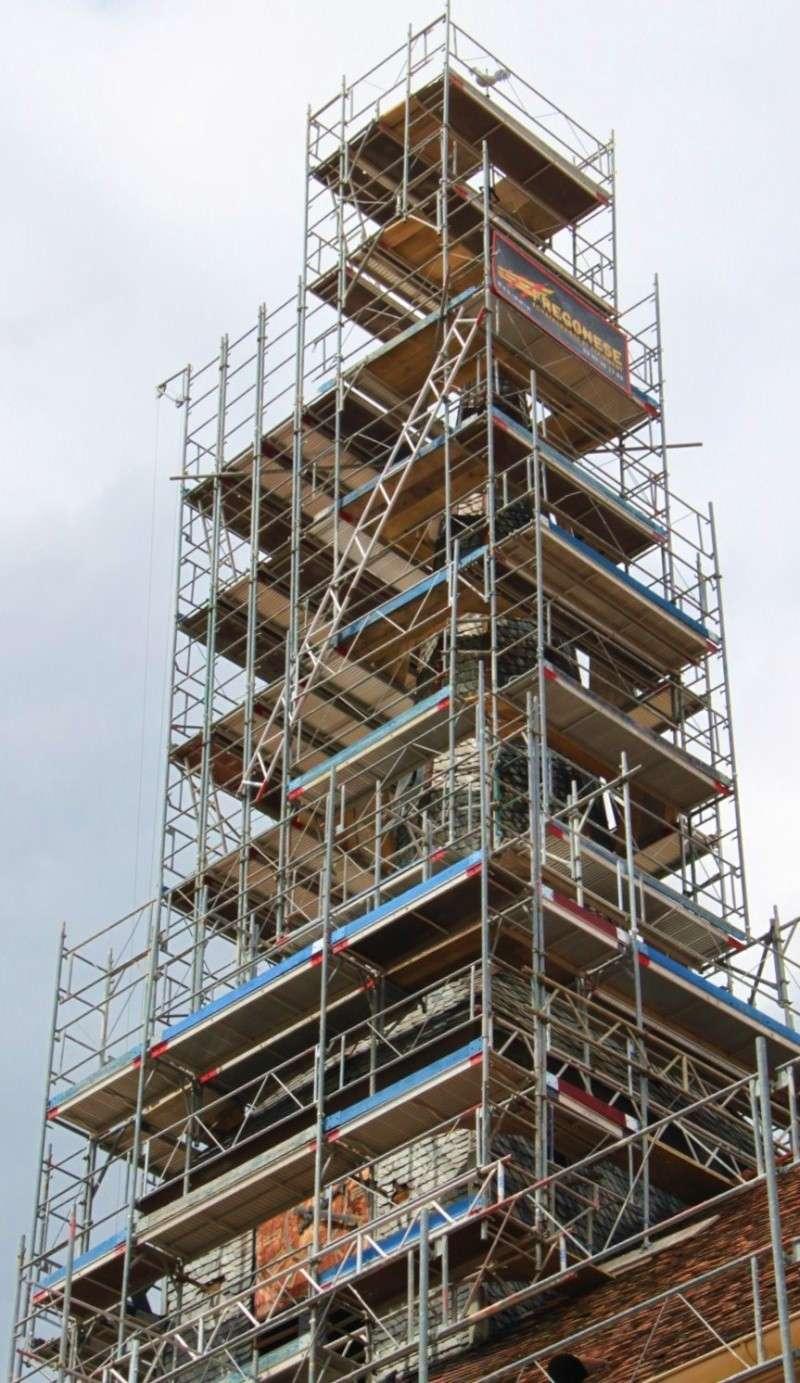 Le chantier de restauration de l'église simultanée de Wangen ... Img_0414