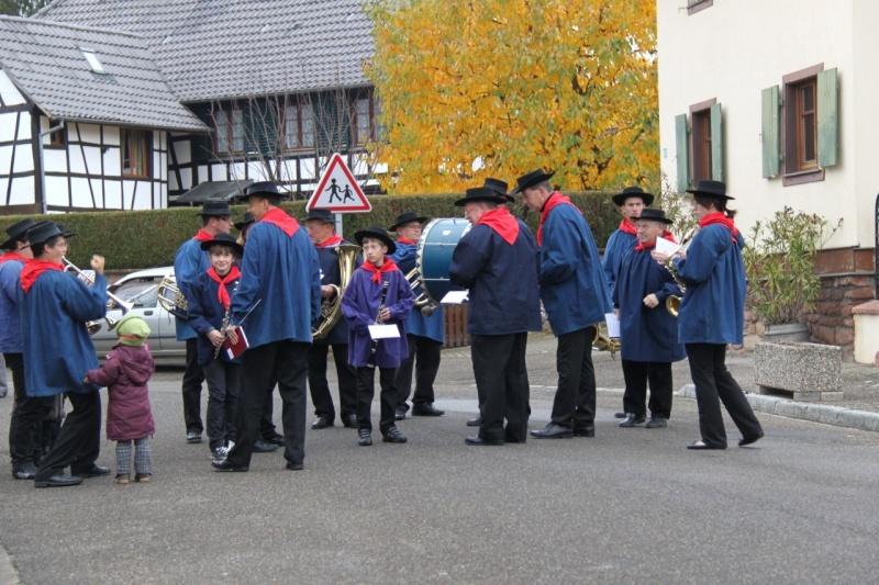 La commémoration de l'Armistice à Quatzenheim, Wangen et Nordheim avec la Musique Harmonie de Wangen Img_8710