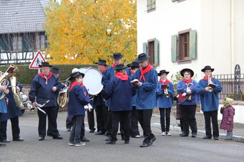 La commémoration de l'Armistice à Quatzenheim, Wangen et Nordheim avec la Musique Harmonie de Wangen Img_8843