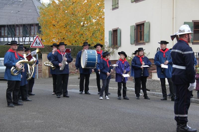 La commémoration de l'Armistice à Quatzenheim, Wangen et Nordheim avec la Musique Harmonie de Wangen Img_8845