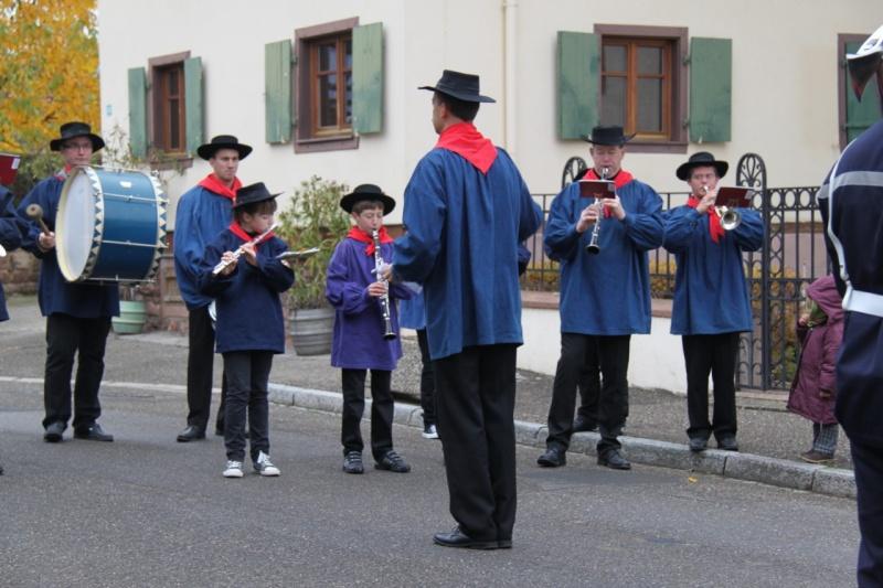 La commémoration de l'Armistice à Quatzenheim, Wangen et Nordheim avec la Musique Harmonie de Wangen Img_8848