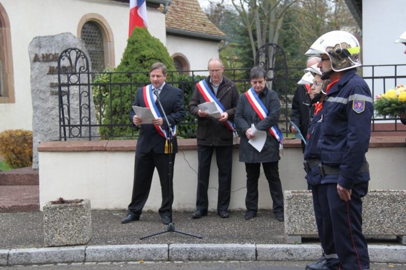 La commémoration de l'Armistice à Quatzenheim, Wangen et Nordheim avec la Musique Harmonie de Wangen Img_8849