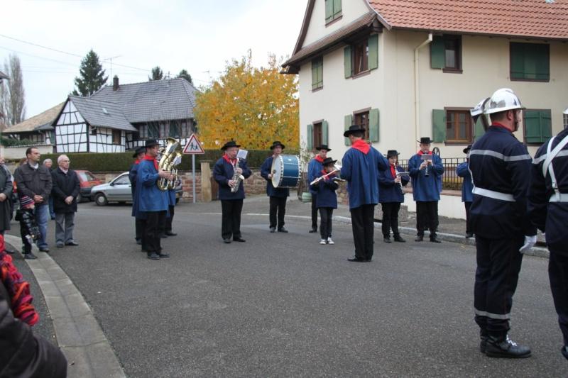 La commémoration de l'Armistice à Quatzenheim, Wangen et Nordheim avec la Musique Harmonie de Wangen Img_8850