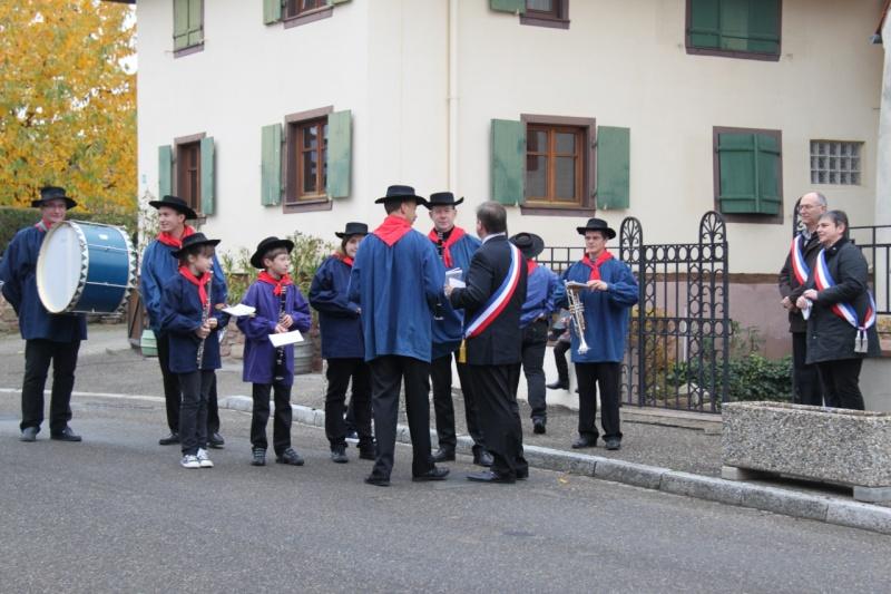 La commémoration de l'Armistice à Quatzenheim, Wangen et Nordheim avec la Musique Harmonie de Wangen Img_8851