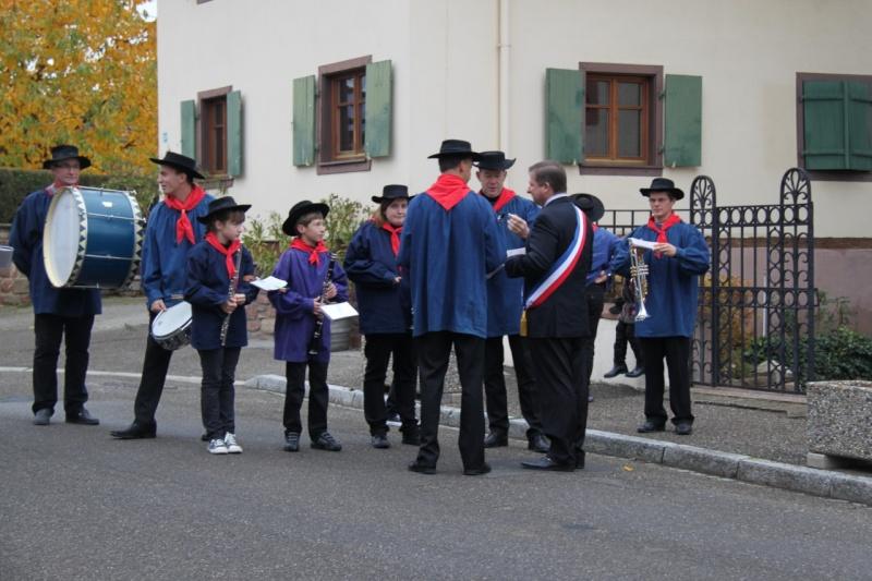 La commémoration de l'Armistice à Quatzenheim, Wangen et Nordheim avec la Musique Harmonie de Wangen Img_8852