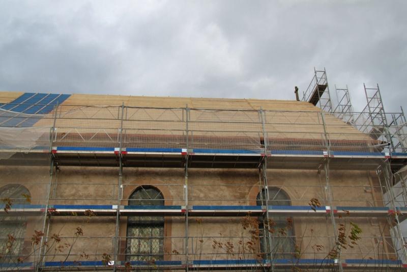 Le chantier de restauration de l'église simultanée de Wangen ... Img_8853