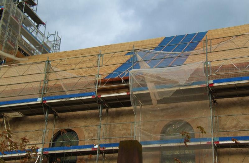 Le chantier de restauration de l'église simultanée de Wangen ... Img_8854