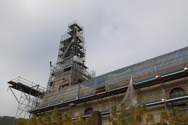 Le chantier de restauration de l'église simultanée de Wangen ... Img_9161