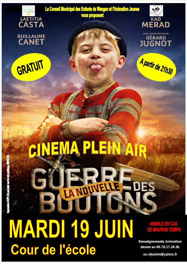 Cinéma en plein air à Wangen le 19 juin 2012 à 21h30 dans la cour de l'école élémentaire La_gue10