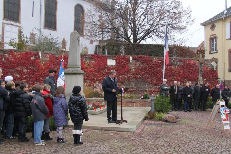 La commémoration de l'Armistice à Quatzenheim, Wangen et Nordheim avec la Musique Harmonie de Wangen Nordhe12