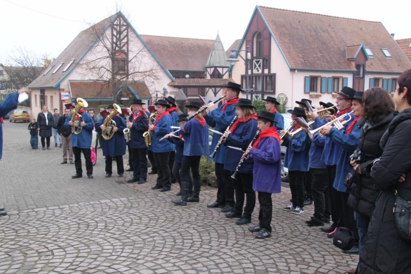 La commémoration de l'Armistice à Quatzenheim, Wangen et Nordheim avec la Musique Harmonie de Wangen Nordhe16