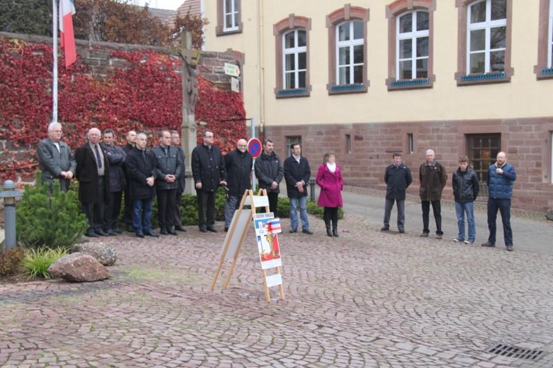 La commémoration de l'Armistice à Quatzenheim, Wangen et Nordheim avec la Musique Harmonie de Wangen Nordhe17
