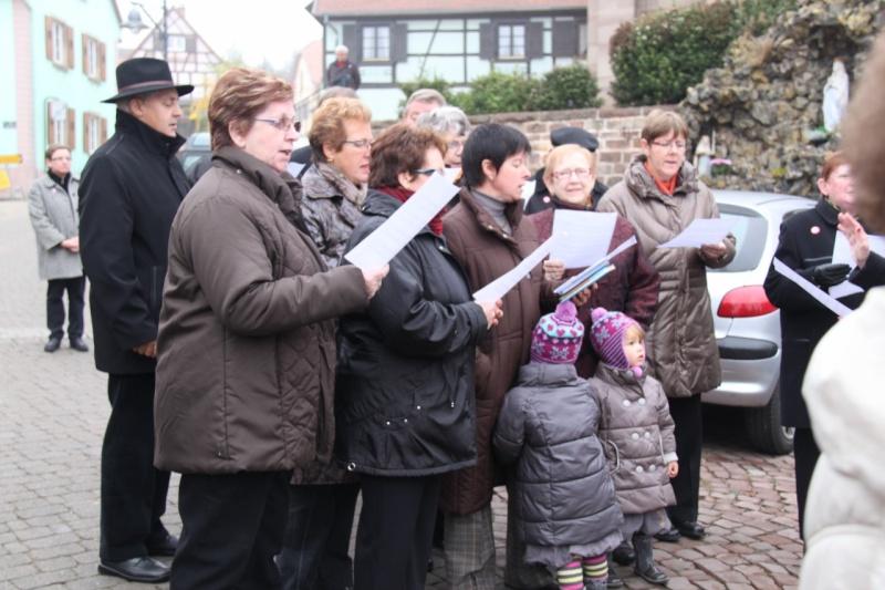 La commémoration de l'Armistice à Quatzenheim, Wangen et Nordheim avec la Musique Harmonie de Wangen Nordhe18