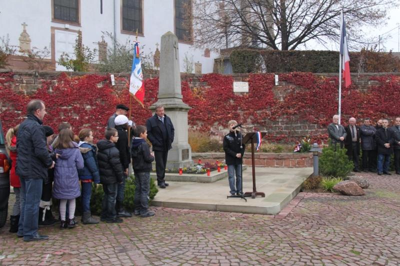 La commémoration de l'Armistice à Quatzenheim, Wangen et Nordheim avec la Musique Harmonie de Wangen Nordhe19