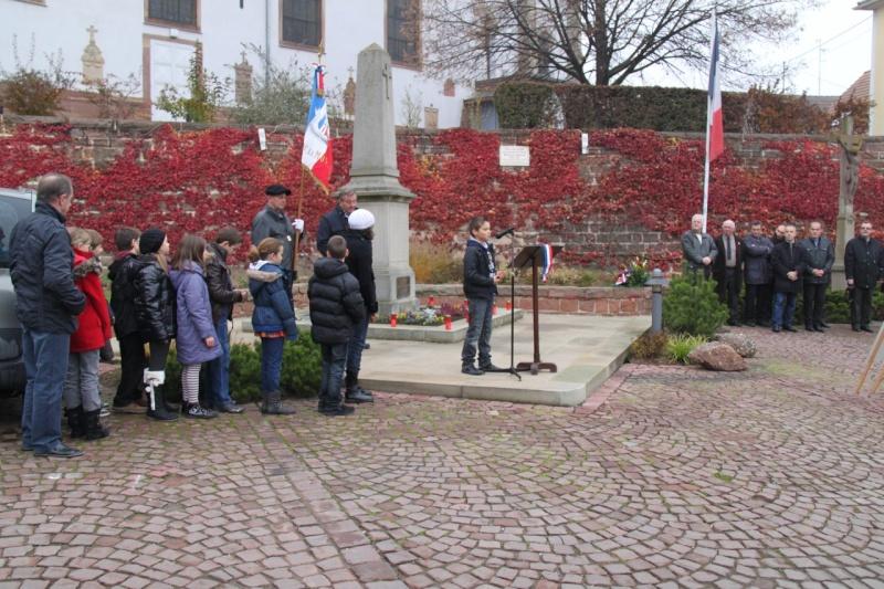 La commémoration de l'Armistice à Quatzenheim, Wangen et Nordheim avec la Musique Harmonie de Wangen Nordhe20