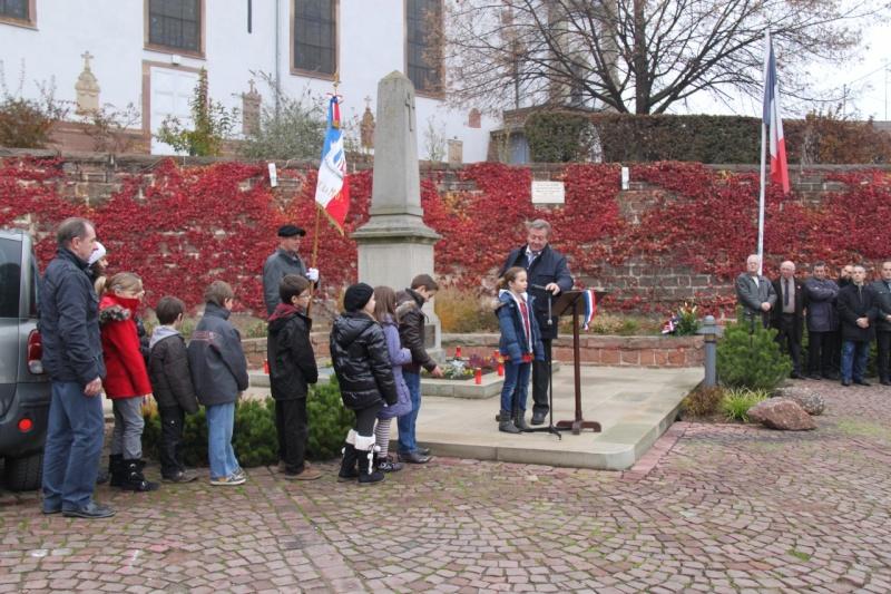 La commémoration de l'Armistice à Quatzenheim, Wangen et Nordheim avec la Musique Harmonie de Wangen Nordhe21