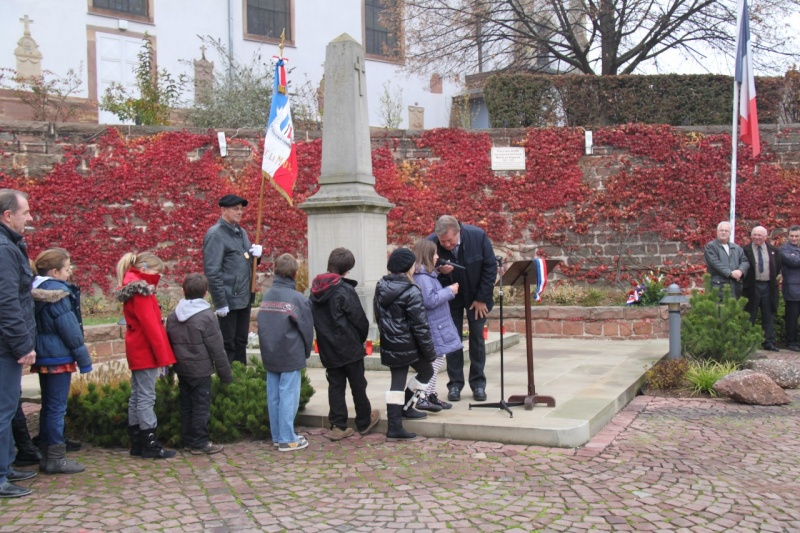 La commémoration de l'Armistice à Quatzenheim, Wangen et Nordheim avec la Musique Harmonie de Wangen Nordhe22
