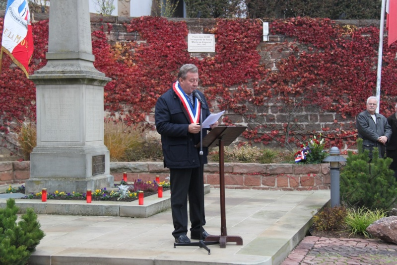 La commémoration de l'Armistice à Quatzenheim, Wangen et Nordheim avec la Musique Harmonie de Wangen Nordhe24
