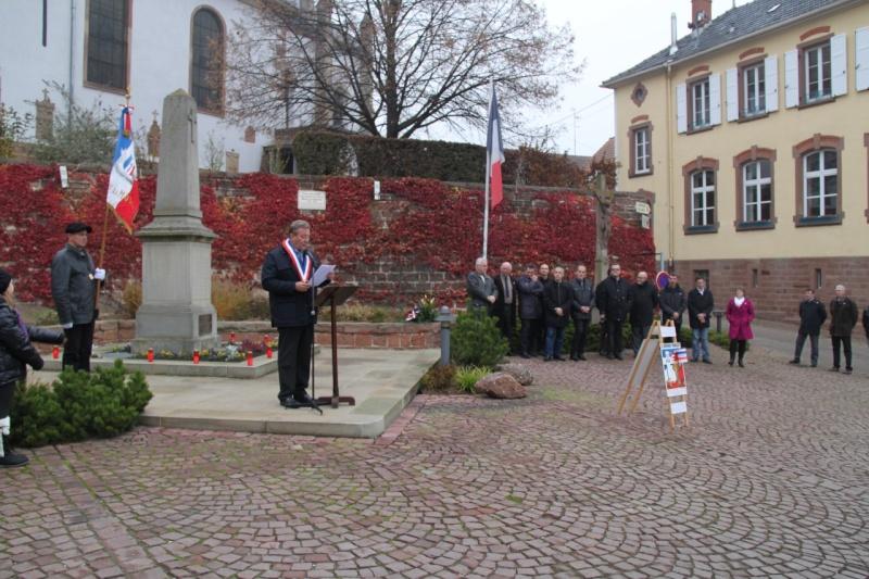 La commémoration de l'Armistice à Quatzenheim, Wangen et Nordheim avec la Musique Harmonie de Wangen Nordhe25