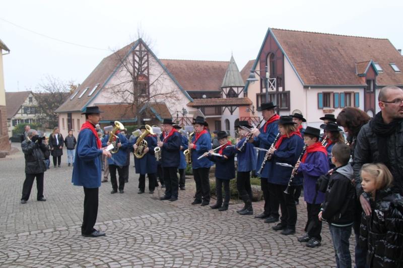 La commémoration de l'Armistice à Quatzenheim, Wangen et Nordheim avec la Musique Harmonie de Wangen Nordhe26