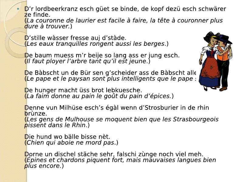 Di Sprichwerter : les proverbes Viewer15